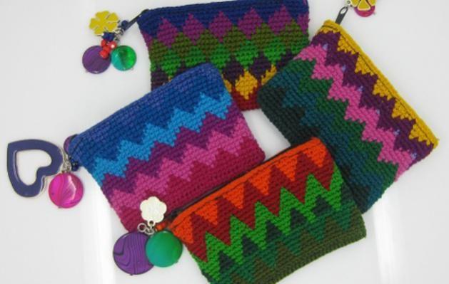 Monederos tejidos Tejidos^^ Pinterest Crochet, Crocheted bags