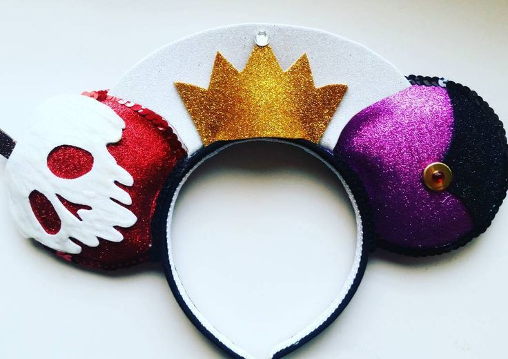 Evil Queen Mickey ears for back of Snow White   Absolutely ...Disney Evil Queen Ears