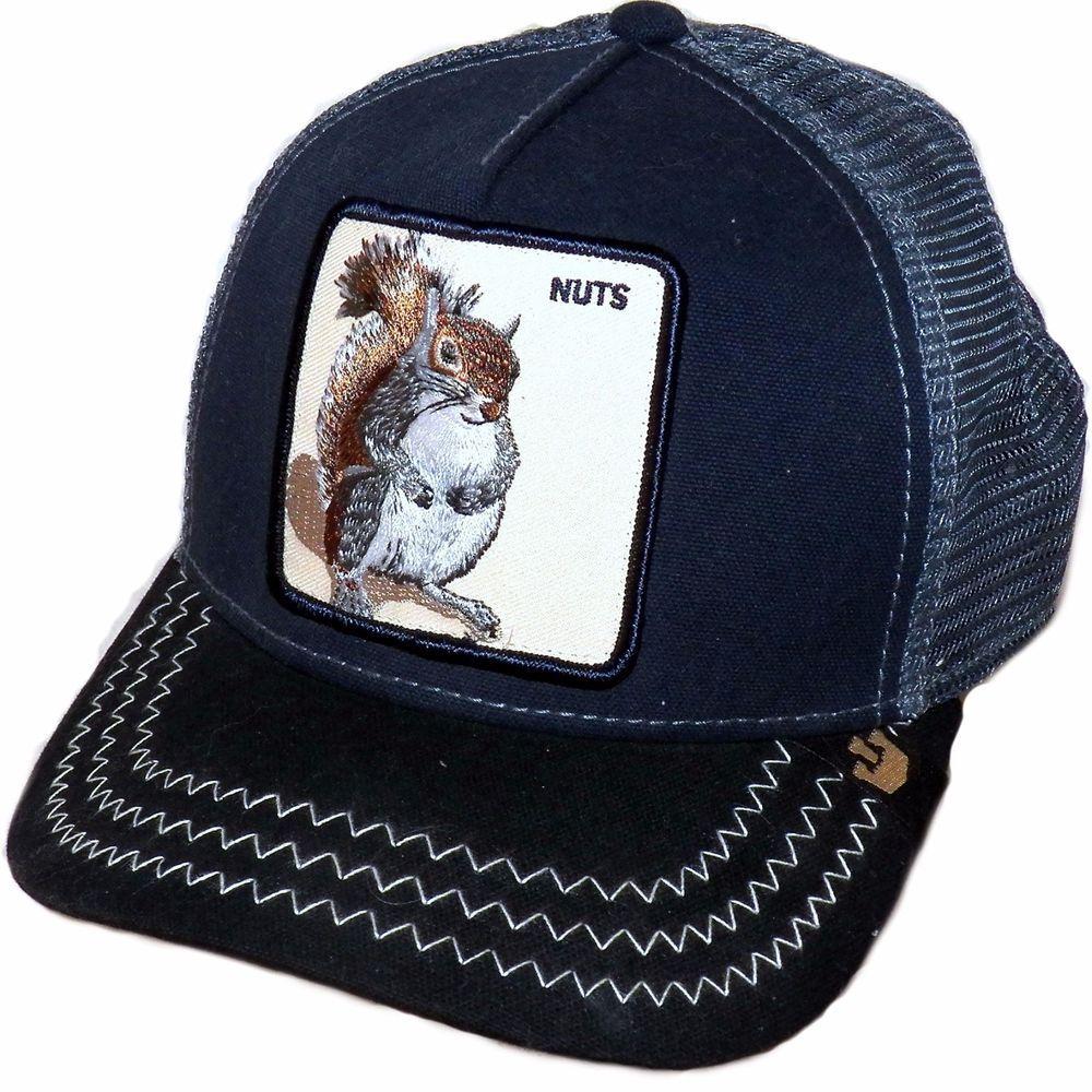 Goorin Bros Animal Farm Squirrel Master Hipster Trucker Snapback Baseball  Cap  b7163b543b45