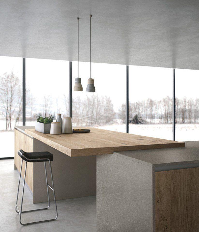Cucina componibile con ante in vetro, Cucina di design in Corian ...