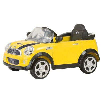 Mini Cooper Battery Powered Riding Toy Fun Yellow Mini Cooper Ride On Toys Mini Cooper