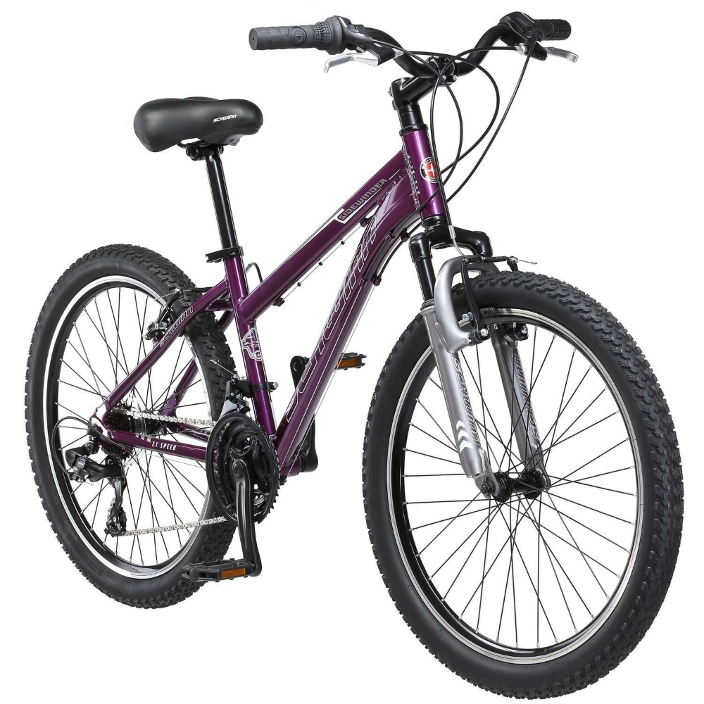 "Schwinn 24"" Girls Sidewinder Purple Mountain Bike 24 in"