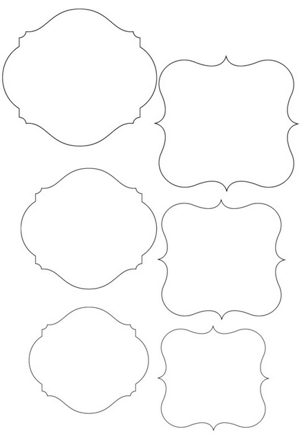 printable picture frame template