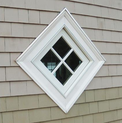 Diamond Shaped Window Square Turned On Side House Exterior Window Design House Rental
