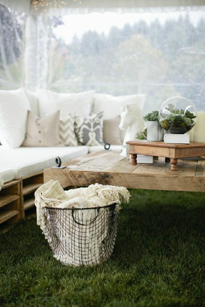▷ 56 + Ideen und Bilder zum Thema Palettenmöbel Terrasse ...