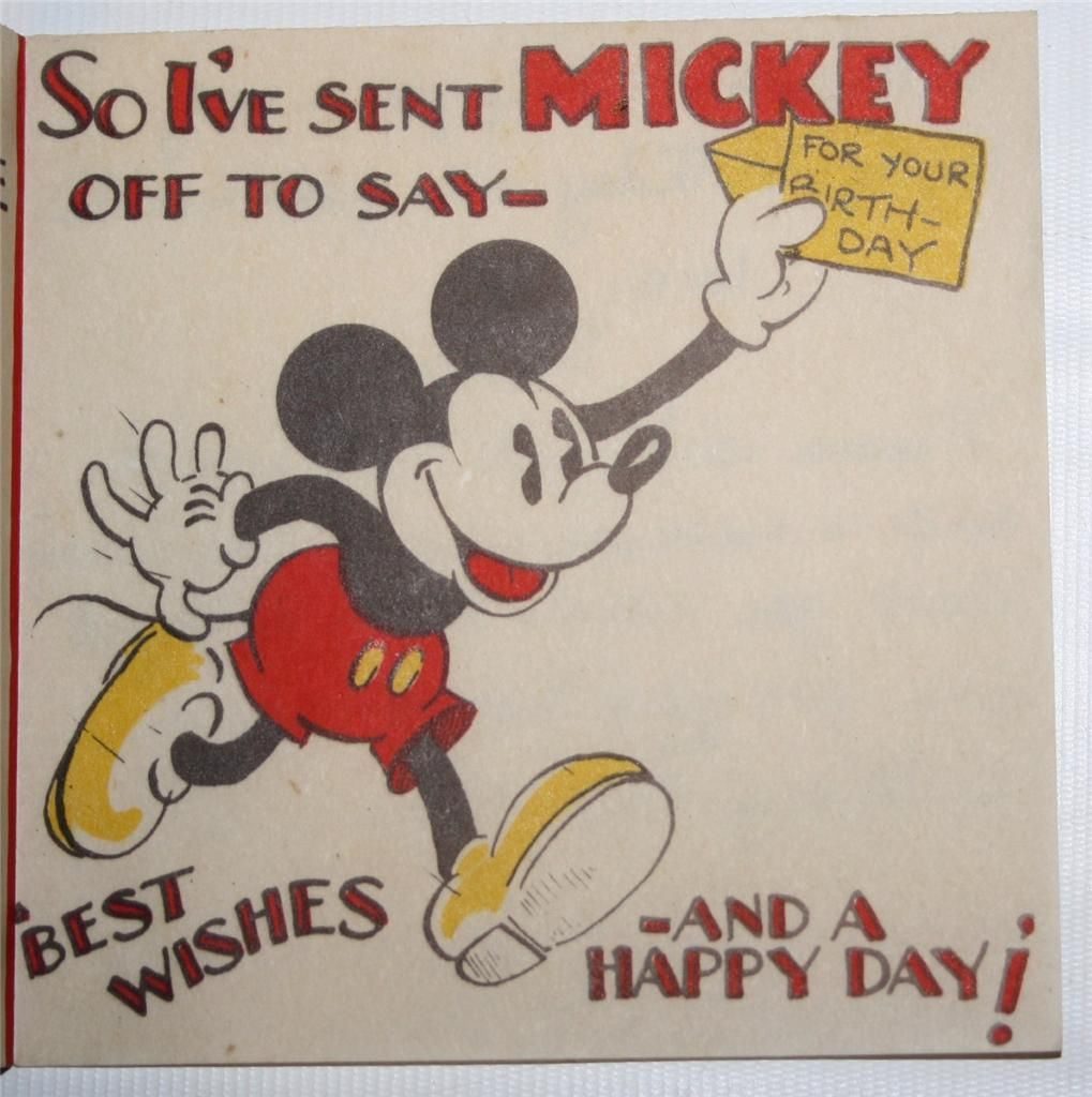 Auctiva image hosting vintage disney birthday card mickey mouse auctiva image hosting vintage disney birthday card mickey mouse g delgado ltd kristyandbryce Choice Image