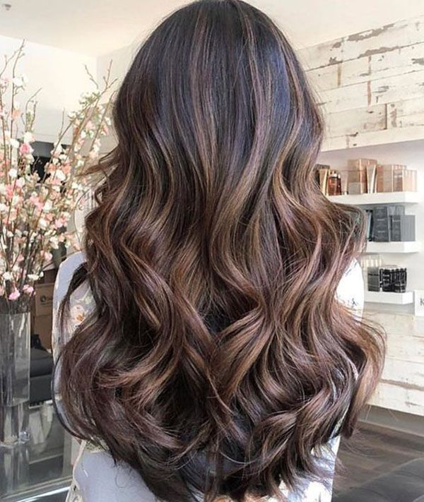 Hair Colors Ideas Trends For The Long Hairstyle Winter 2018 2019 Brown Ombre Hair Curly Hair Styles Naturally Colored Curly Hair