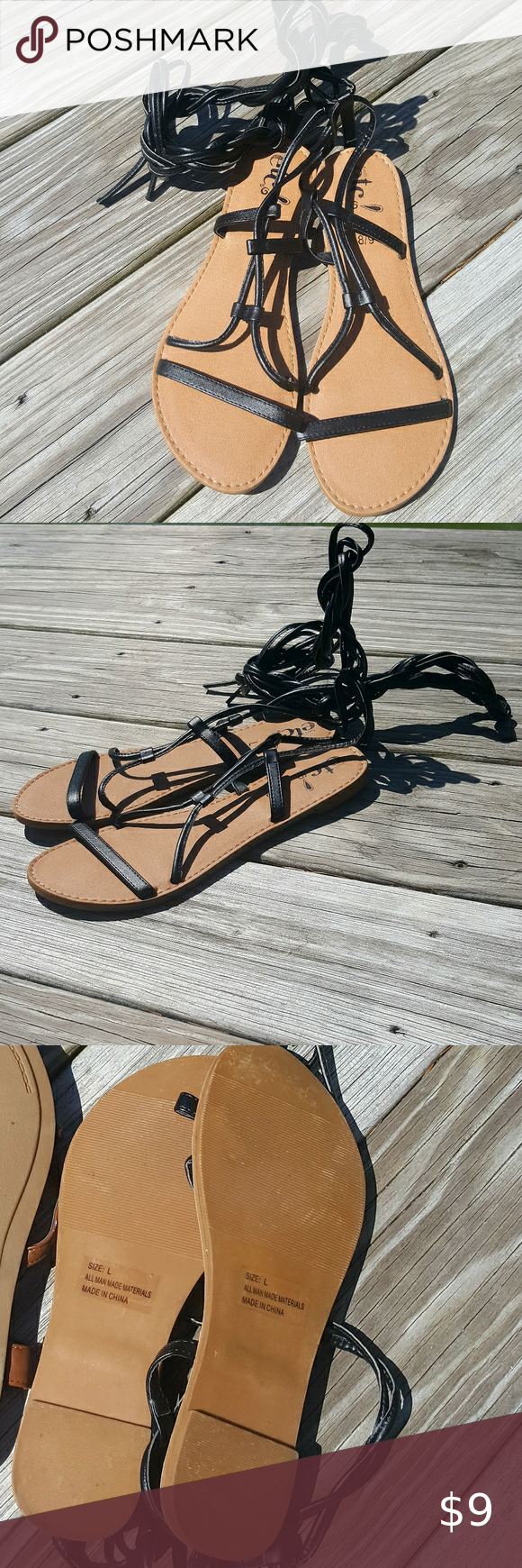 Sold 4 30 Gladiator Lace Up Sandals In 2020 Lace Up Sandals Lace Up Sandals