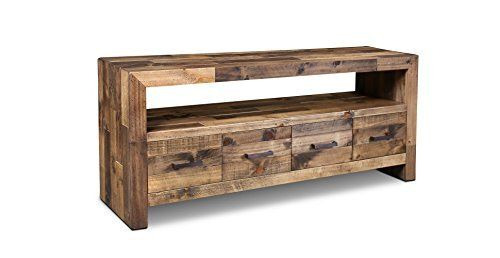 Crafters And Weavers Rustic Style Fulton Tv Stand Console Table
