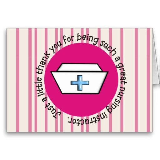 Nursing Instructor Appreciation Card #3 http://www.zazzle.com/nursing_instructor_appreciation_card_3-137272442908492734?rf=238282136580680600*