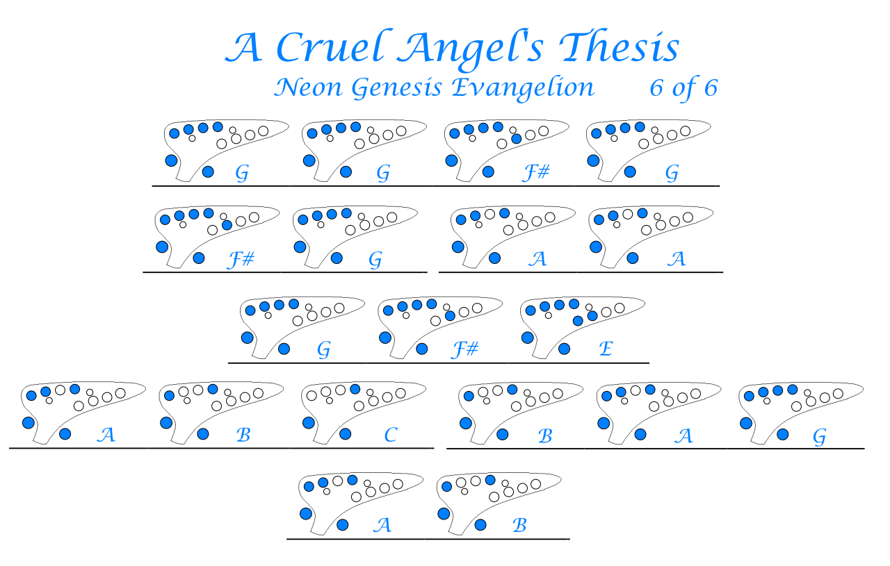 cruel angels thesis ukulele chords
