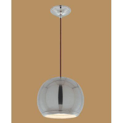 LyricDesigns Eye 1 Light Globe Pendant Finish: Brushed Nickel