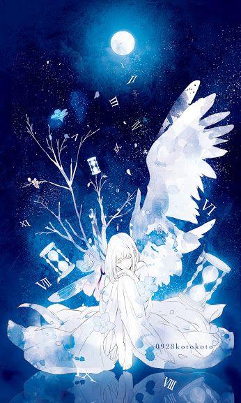 月夜に羽が生えた少女