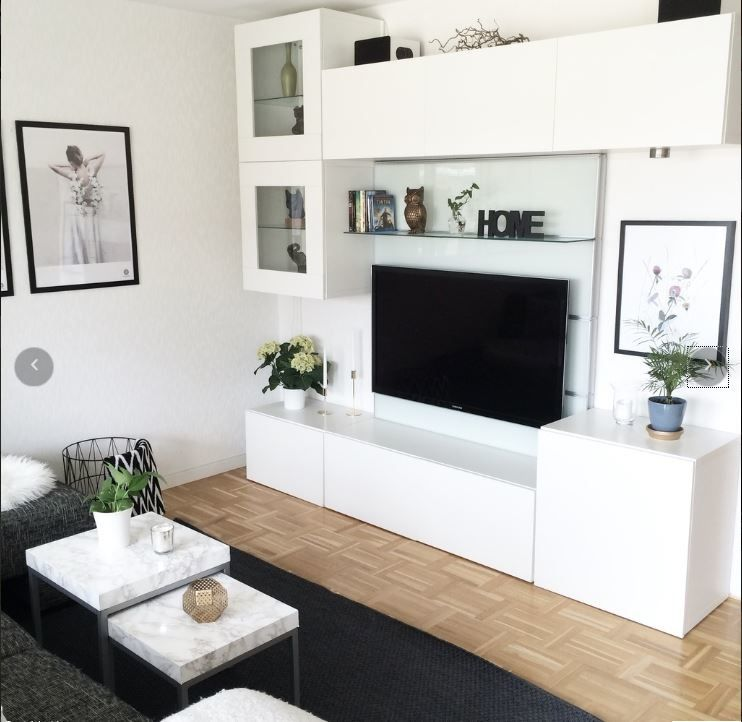 Album 4 banc tv besta ikea r alisations clients for Meuble de decoration pour salon