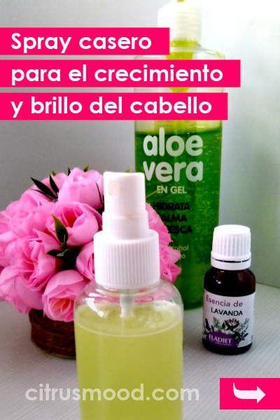 Spray casero para el crecimiento y brillo del cabello
