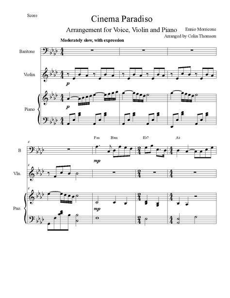 musique de films Ennio Morricone Partition
