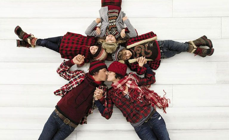 Gap Ad from a few years ago. I like this formation for a holiday card....