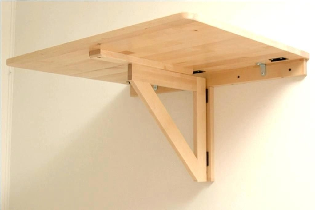 An Der Wand Befestigter Klapptisch Wohnung Ikea Schreibtisch Diy Mobel Ideen