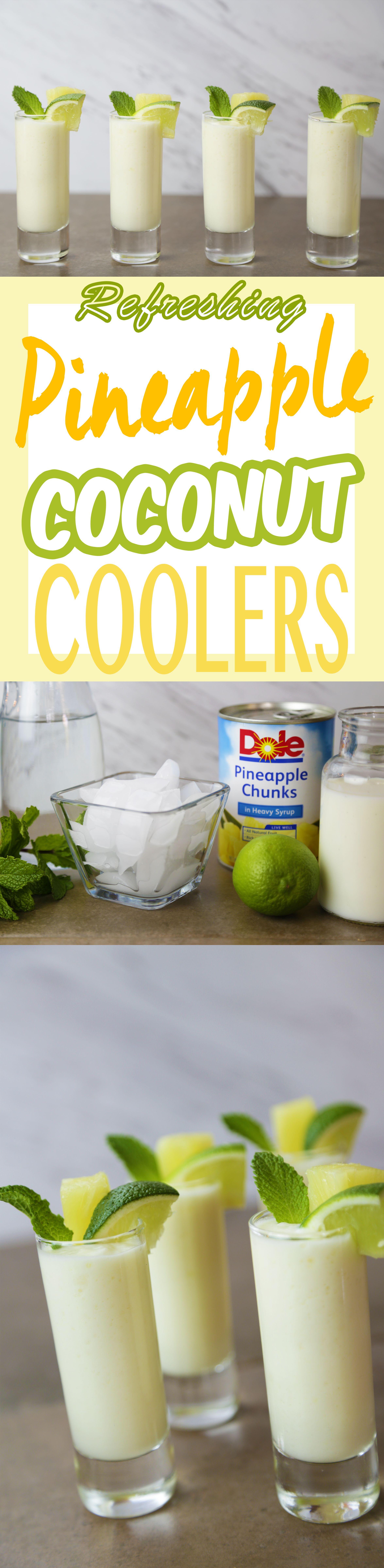 Pineapple Coconut Cooler Shots | Recipe | Lime juice, Coconut milk ...