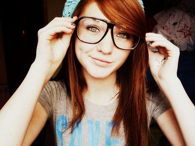 with teen glasses redhead Cute
