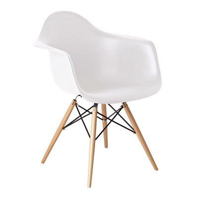 Bon Eiffel Armchair With Beech Legs White
