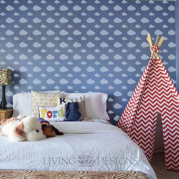 Plantillas decorativas para pintar paredes y crear efectos - Papel habitacion bebe ...
