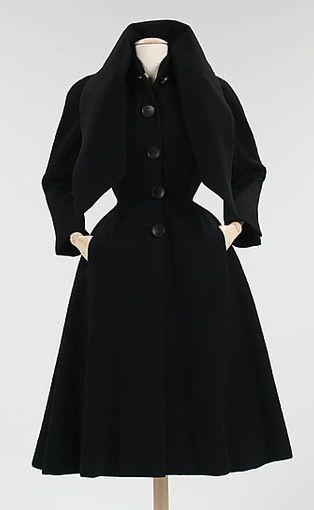Informative Image of a 1950 Dior coat