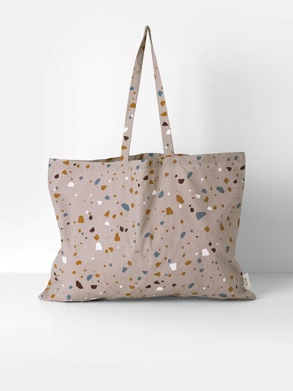 Extra Large Living Room Wall Art: Extra Large Tote Bag In Terrazzo Rose Design By Ferm