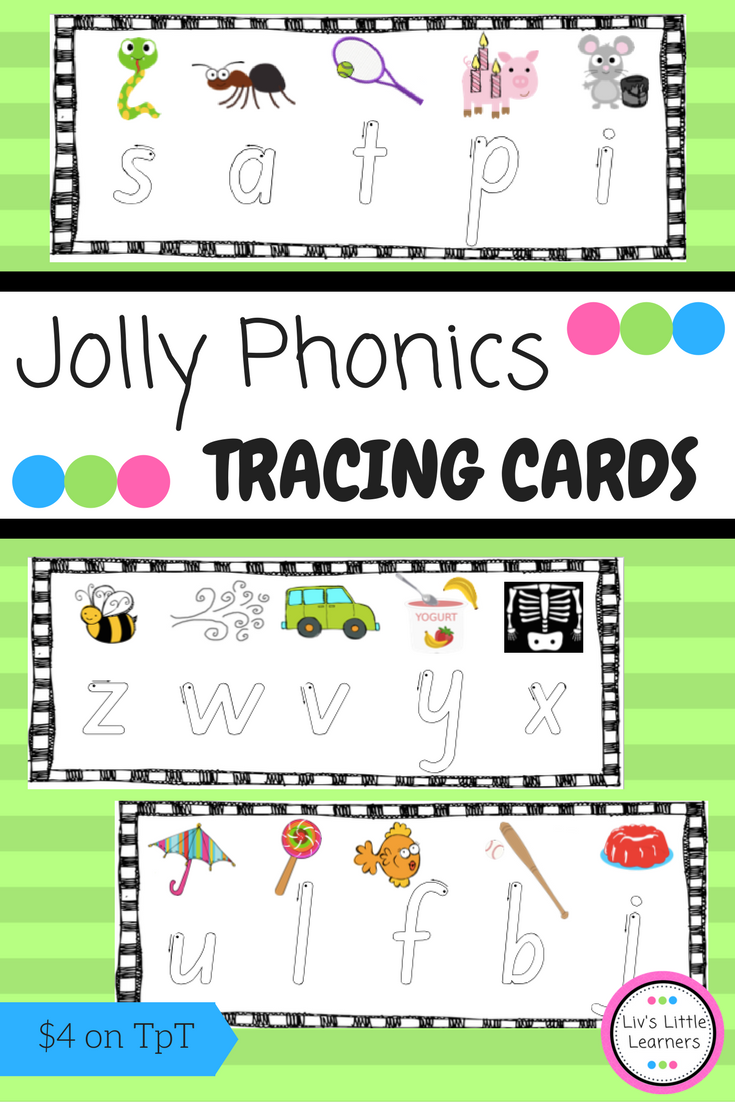 Jolly Phonics Letter Tracing for Formation (pictures match the songs ...