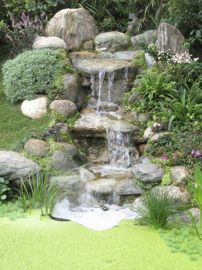 waterfall garden beautiful garden ideas - Garden Waterfalls