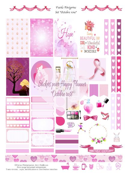Top FREE Printable stickers à imprimer pour Happy Planner ✯ Octobre  NH83