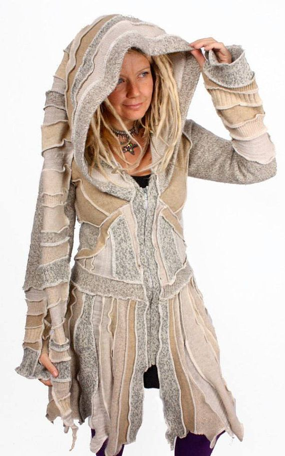 Elf Coat by Katwise - Recycled Jumper TUTORIAL | UPCYCLE garments ...