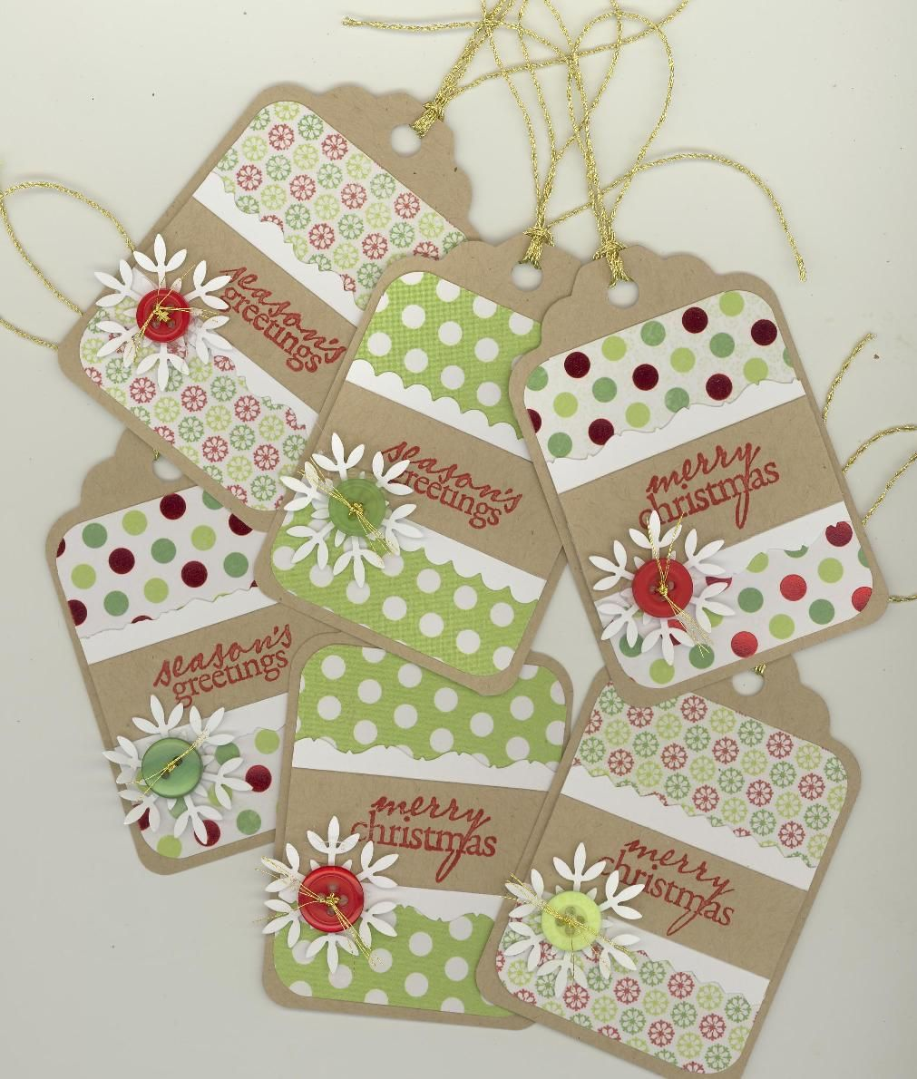 Christmas Gift Tags Pinterest.Pinterest Inspired Christmas Tags Paper Crafts Diy