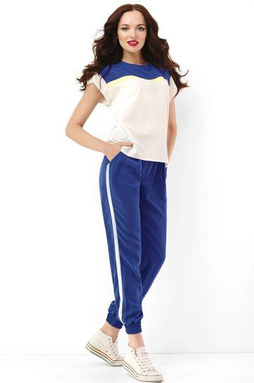 Комплект Lady Secret 2523 Sport Chic style Брюки с лампасами + шифоновая блуза