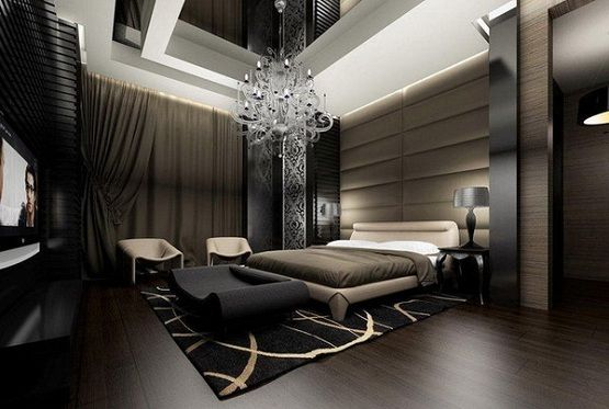 Modern master bedroom chandelier lighting. | Bedrooms | Modern ...