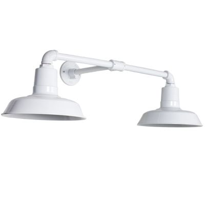 Dual arm sign light commercial rlm lights barn light - Commercial exterior lighting manufacturers ...