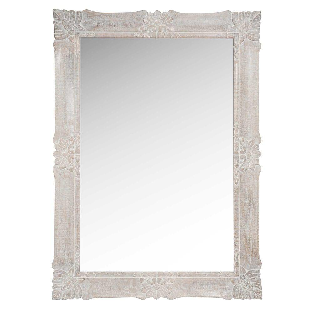 Specchi Per Bagno Maison Du Monde.Specchio In Mango Sbiancato 79x109 Cm In 2019 Bagni Wood Mirror