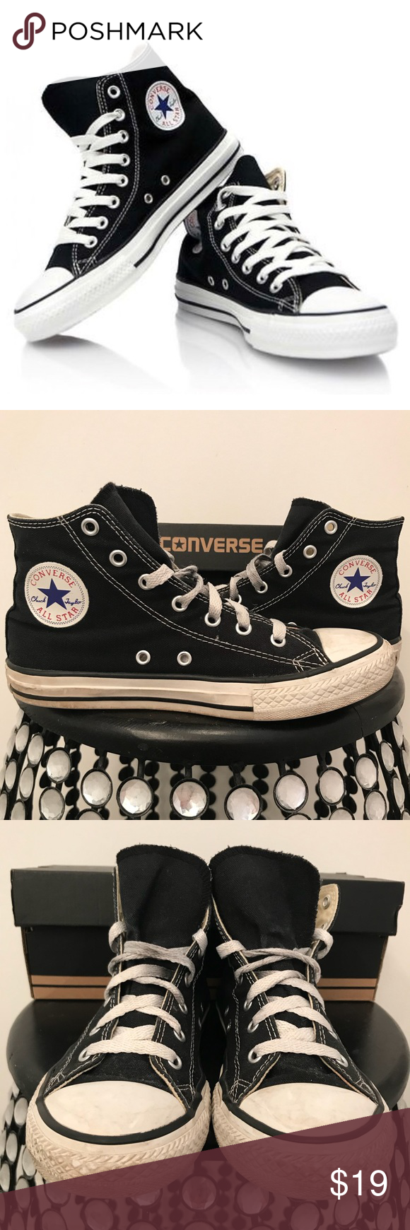 939f78f55b36 Converse High Tops (Youth Size 3  Women s Size 5) Converse high tops fits youth  size 3 or women s size 5. Used. Good condition. Converse Shoes Sneakers