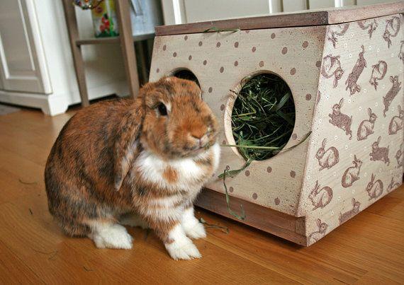 box rabbit hay rack wooden hay rack