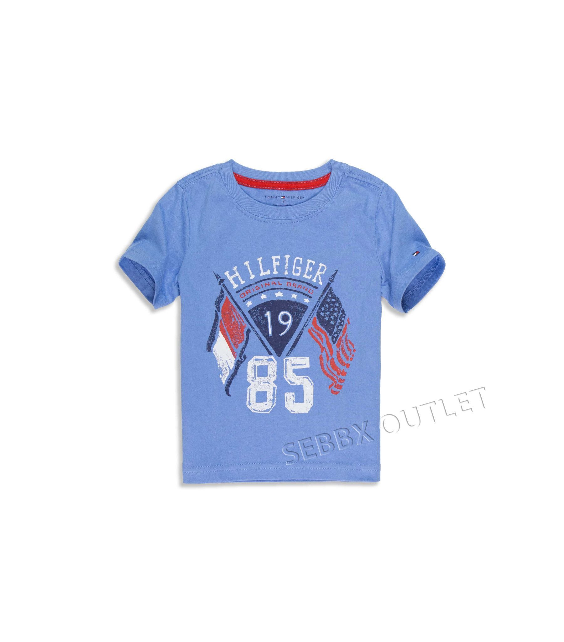 Tommy Hilfiger T Shirt Tee Blue Graphic T