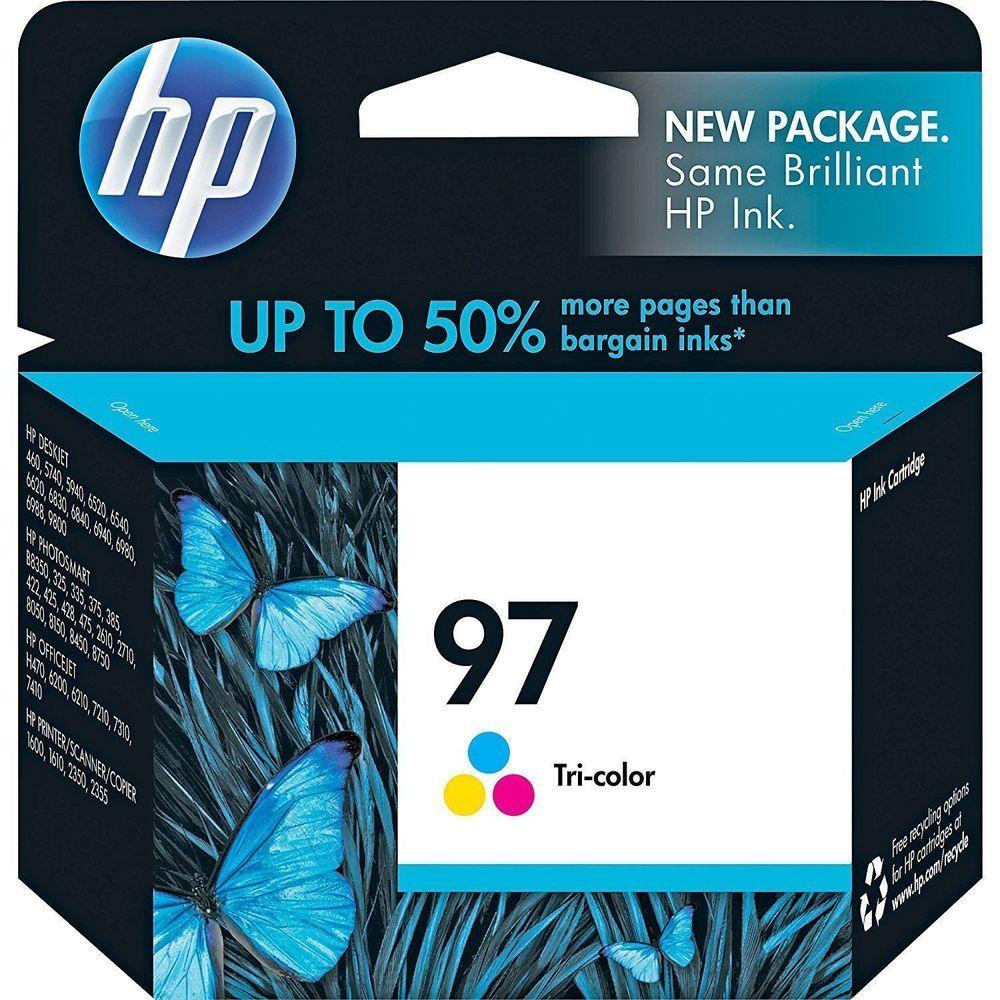 Hp 97 Tri Color Original Ink Cartridge C9363wn Hp Ink Cartridge