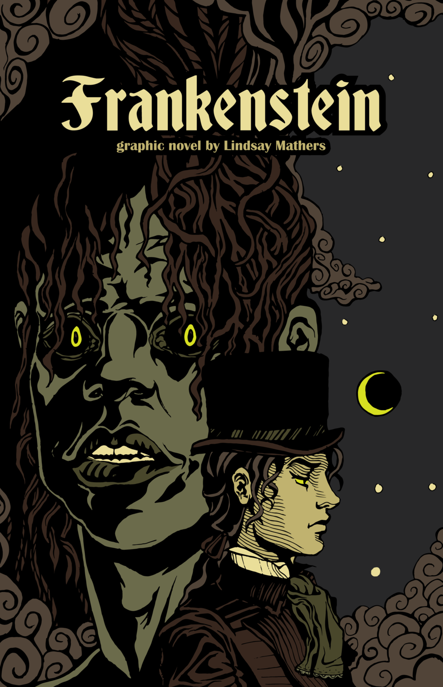 Book Cover Graphism ~ Frankenstein graphic novel cover by lin west book