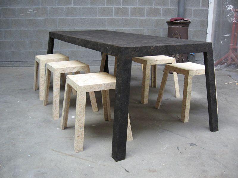 tafel osb zwart gelakt jan van look interior pinterest design trends tables and consoles. Black Bedroom Furniture Sets. Home Design Ideas