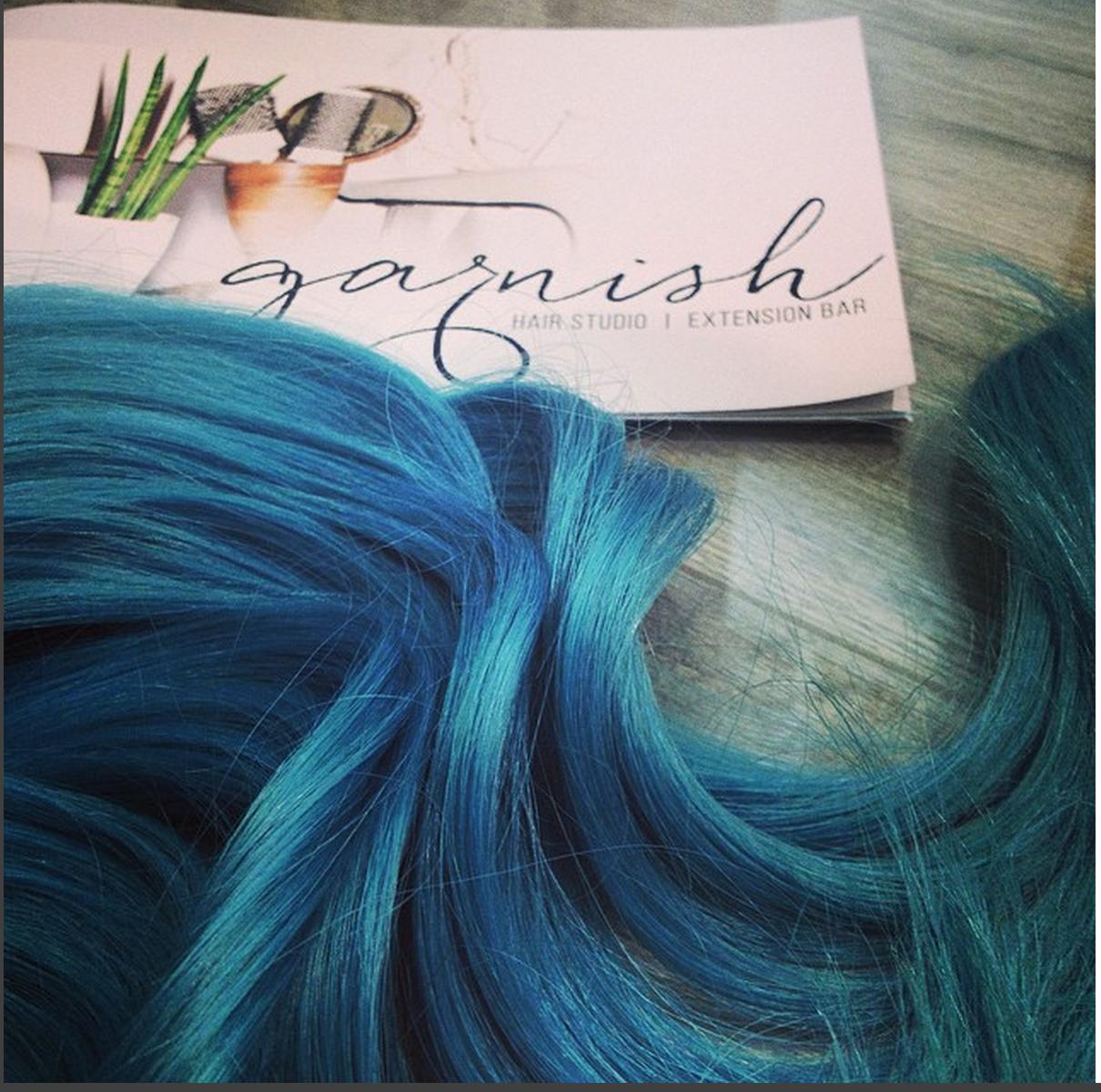 Garnish Studio And Extension Bar Of Raleigh Nc Sportin Blue Hair