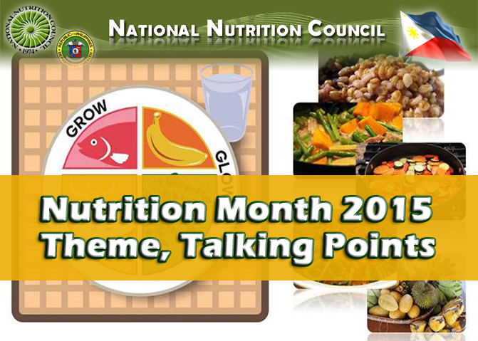 philippine nutrition month theme 2015 google search