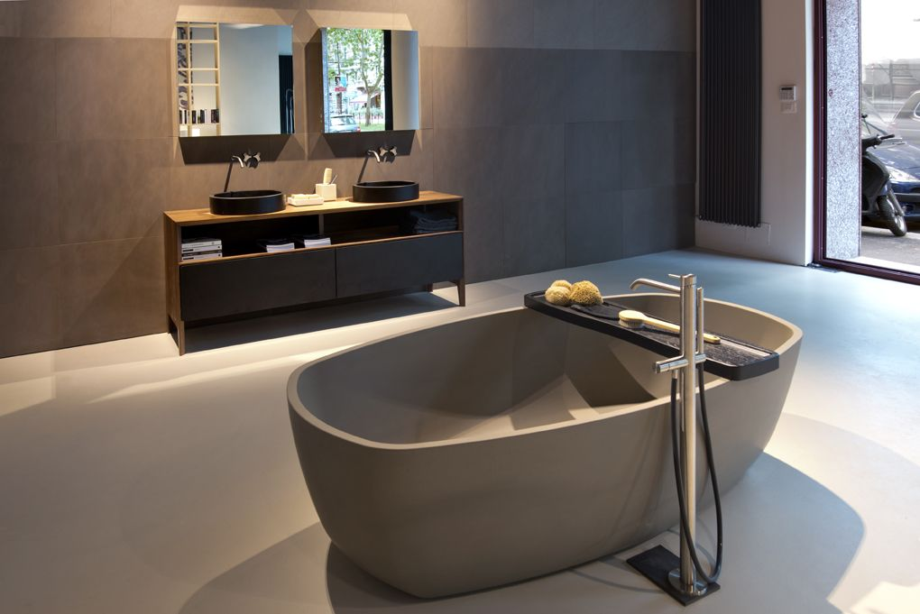 NEUTRA Flagship Store in milan - water_wellness_stone. #bathroom ...