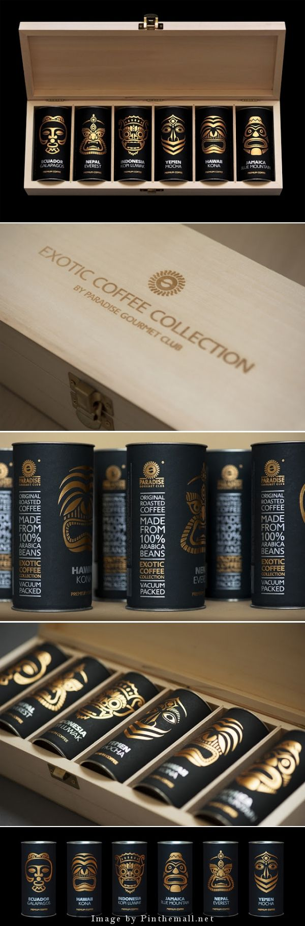 Exotic coffee collection by Paradise. Gourmet-club, Creative Agency: ARTEMOV ARTEL Design Studio
