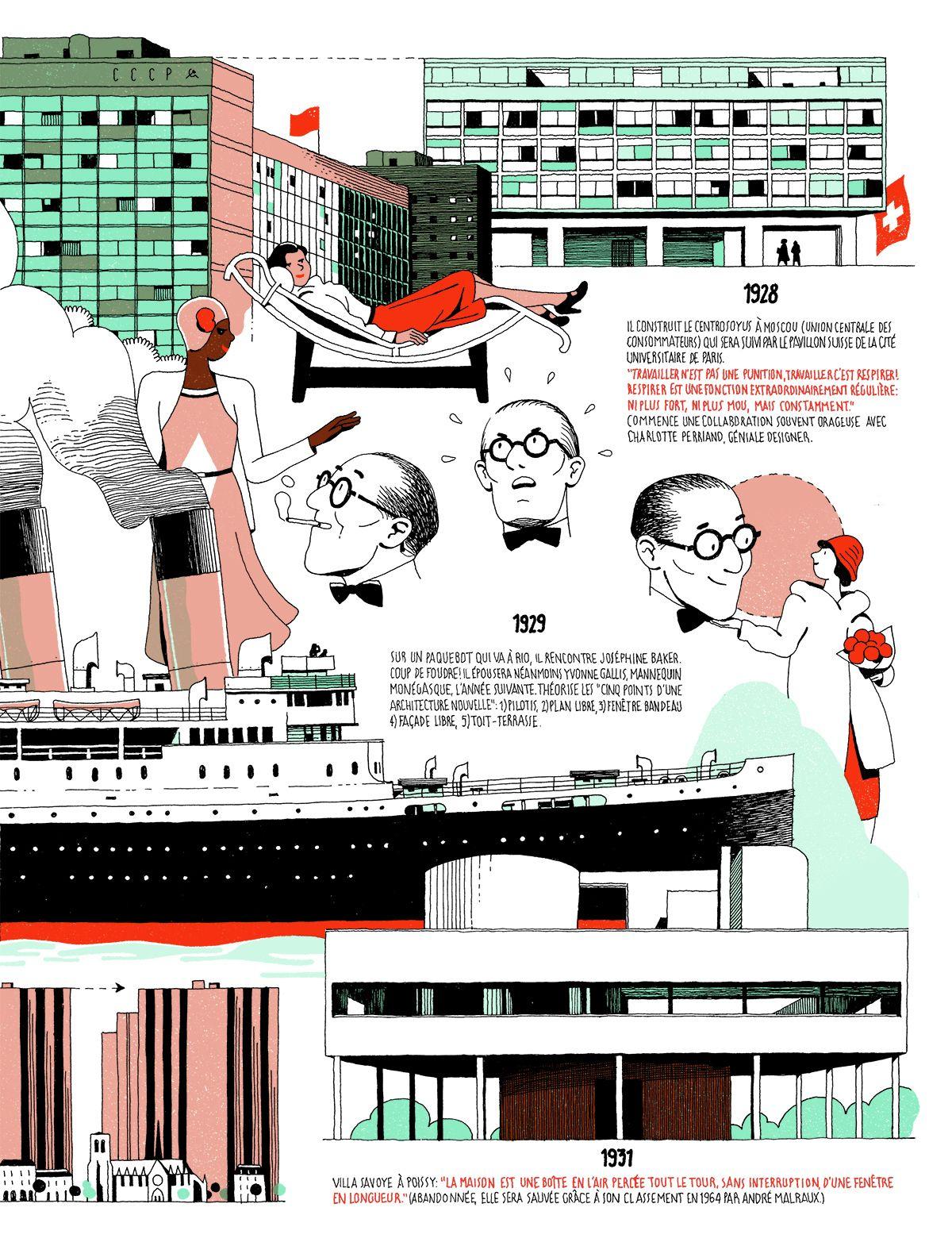 Infographic The Life Of Le Corbusier By Vincent Mahe Desenhos