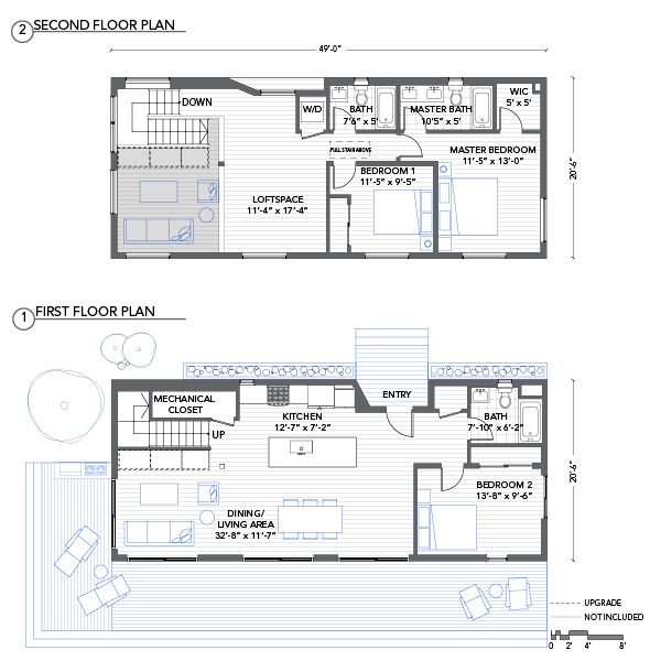 Blu Homes Lofthouse floorplan 3 bedroom (Use the other 3 bed first ...