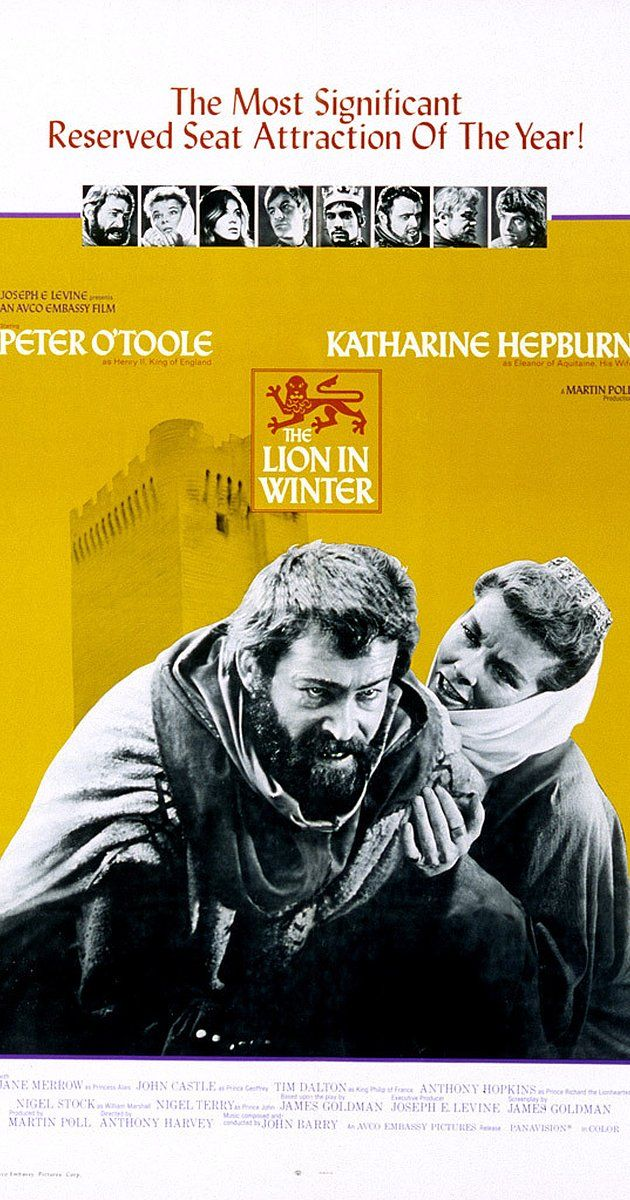 The Lion In Winter 1968 Katharine Hepburn About Time Movie Film Lovers